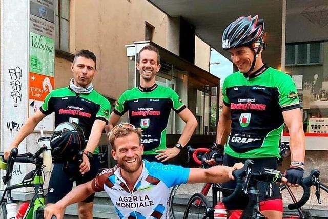 Mit dem Rad nonstop von Malsburg zum Mittelmeer für den guten Zweck