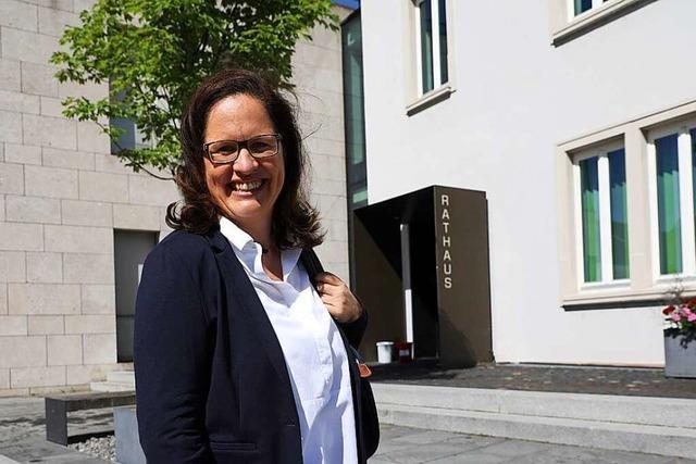 Rundgang mit Kandidatin Simone Lenenbach