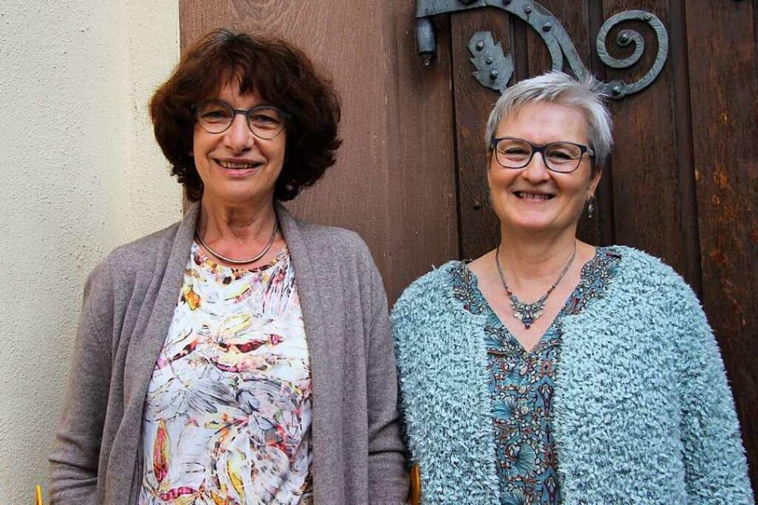 Annedore Braun (links) und Christa Zimmerlin leiten den Hospizverein.  | Foto: Juliana Eiland-Jung