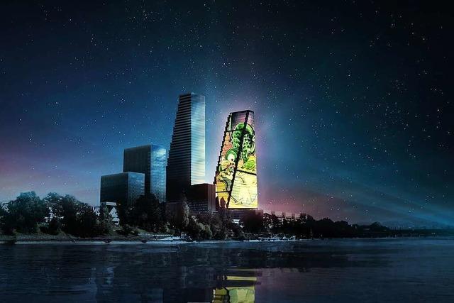 Zum 125- jährigen Bestehen der Roche gibt es im Herbst eine Lichtshow am Turm