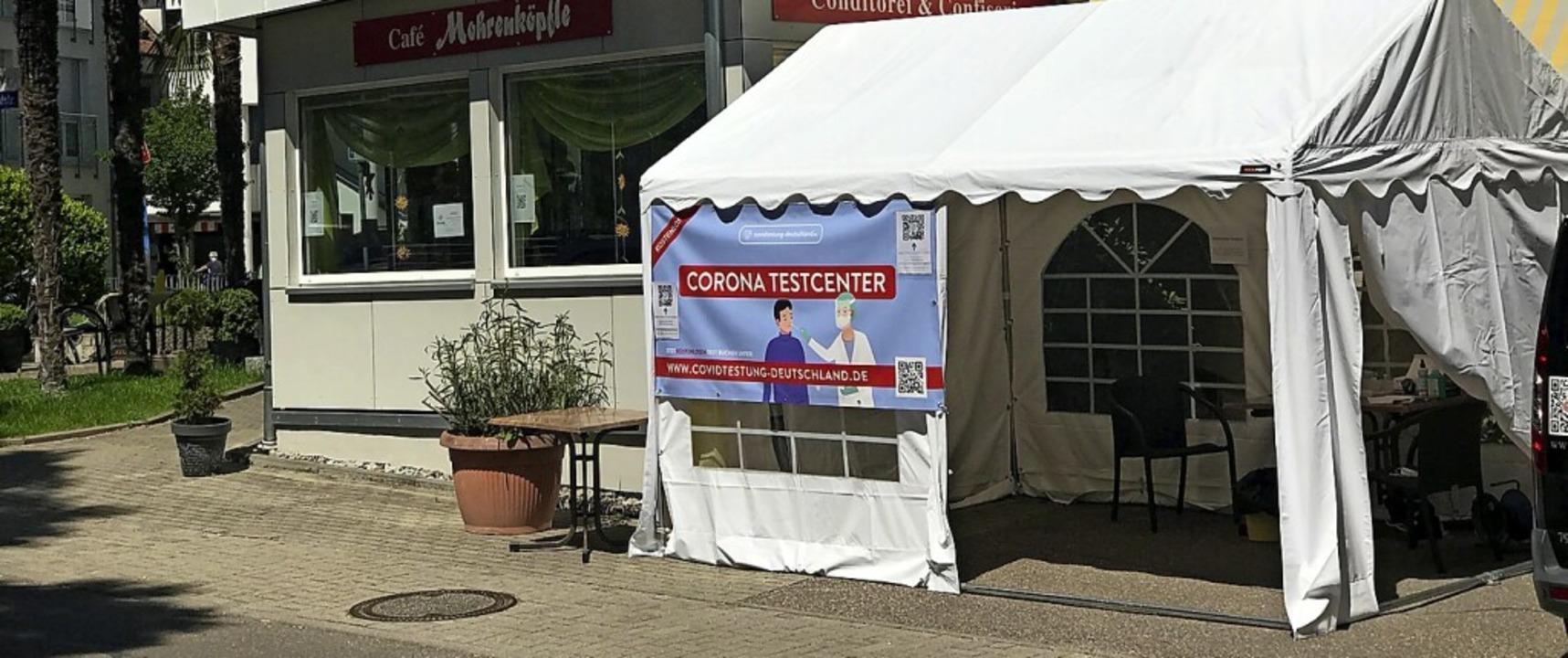 Die Test-Einrichtung beim Café Mohrenköpfle war am Freitag noch geöffnet.  | Foto: Hans-Peter Müller