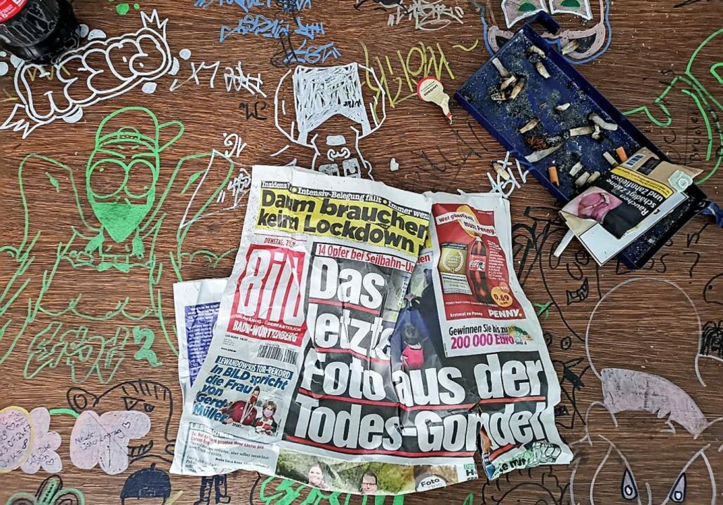 Eigentlich steht das Gebäude leer. Eigentlich.    Foto: Patrik Müller