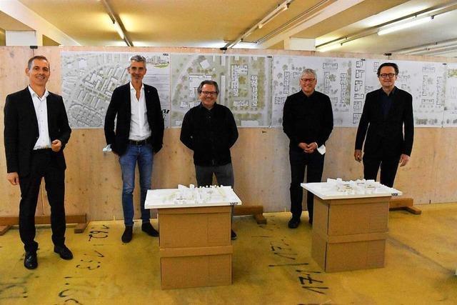 Zwei Siegerentwürfe für Lörrachs neue Mitte Nordstadt