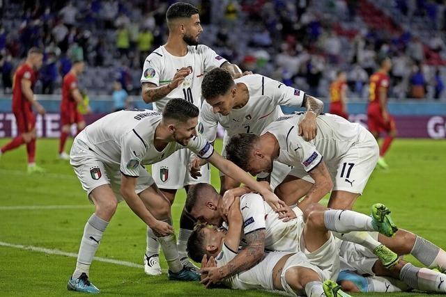 Italien feiert den Einzug ins Halbfinale