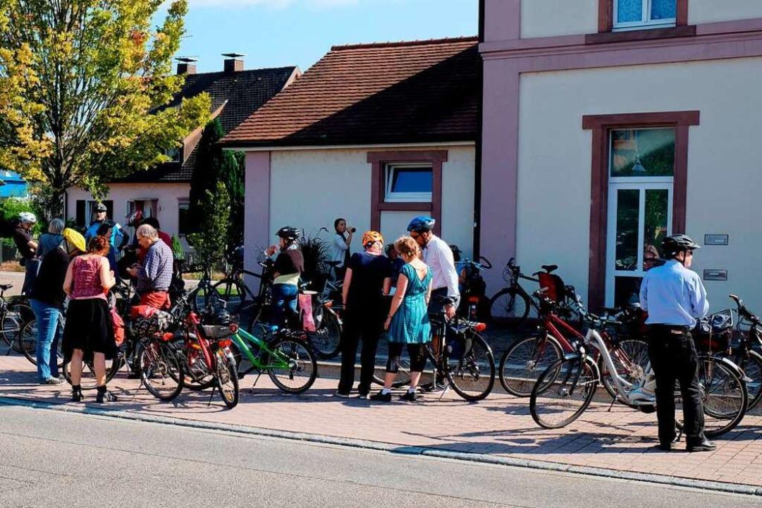 Zwischenstopp bei einer der Vauban-Endingen-Radtouren.    Foto: Erich Lutz