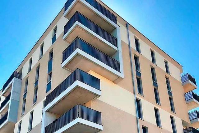 In Rheinfeldens Römerstraße steht das erste Gebäude mit 47 Wohnungen