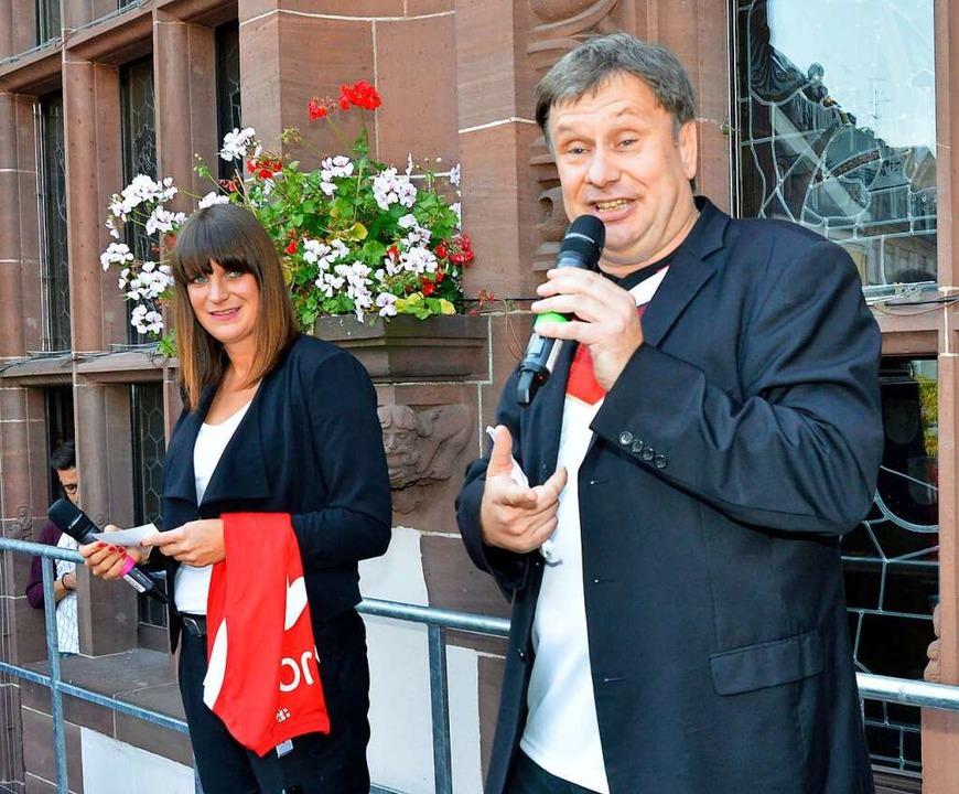 2014 wurde der Jogi-Empfang auf dem Ra...Z-Redakteur Joachim Röderer moderiert.    Foto: Michael Bamberger