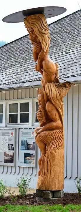 Die Loretta-Skulptur von Thomas Rees  | Foto: Ingo Schneider