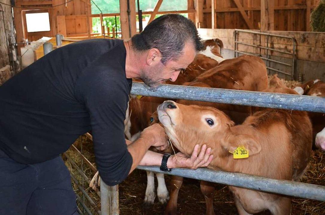 Das Tierwohl ist Bernd Hug wichtig, wie er sagt.  | Foto: Nikola Vogt