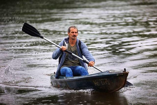 Seit 30 Jahren fährt Robert Grein mit dem Kanu zur Arbeit