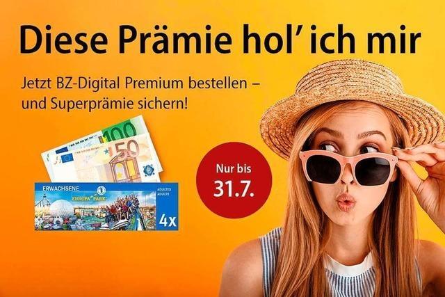 Vier Europa-Park-Karten oder 150 Euro in bar – jetzt BZ-Superprämien sichern!
