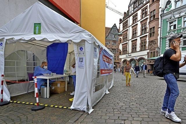 In Freiburg haben bereits 40 Testzentren wieder geschlossen