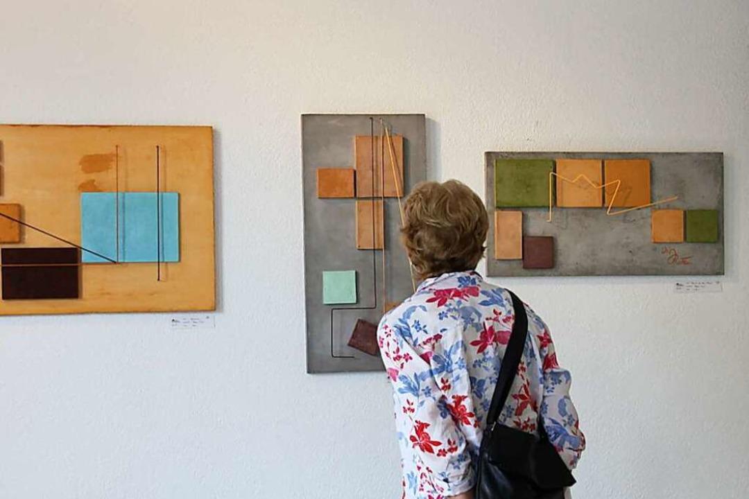 Bilder aus Beton, ergänzt mit Metall, ...i den Riegeler Künstlertagen zu sehen.  | Foto: Christiane Franz