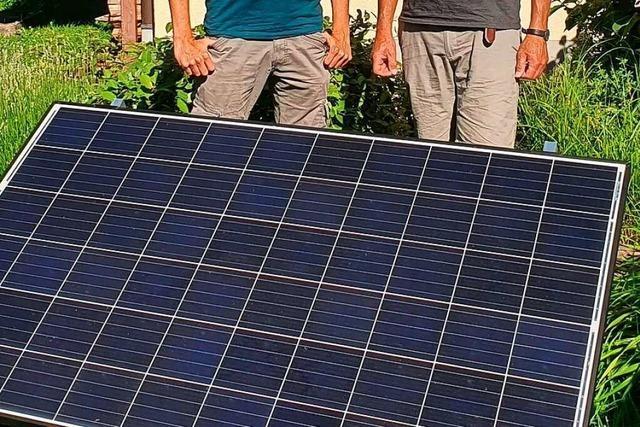 Mini-Photovoltaik-Anlage zum Ausleihen in Au