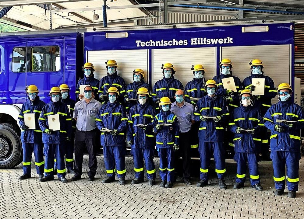 Die erfolgreichen Prüflinge des Schopfheimer THW.   | Foto: privat