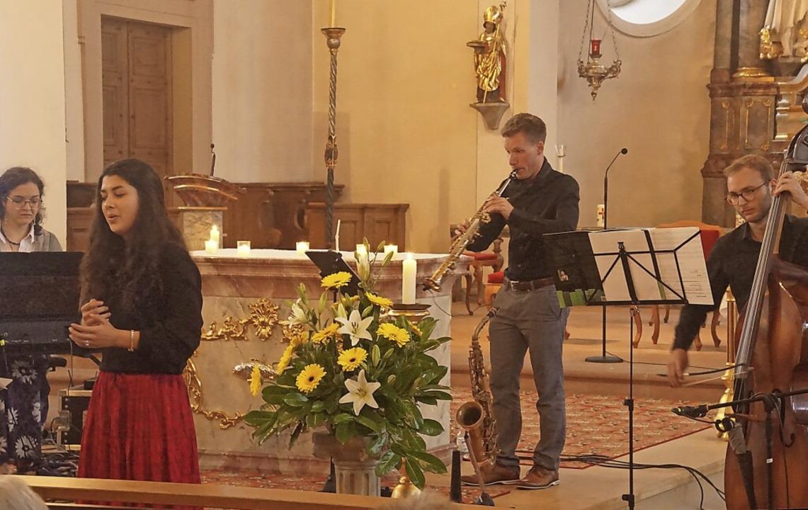 Konzert zum Patrozinium: Martina Petzo...trabass) musizierten in Sankt Ulrich.   | Foto: Ilona Huege