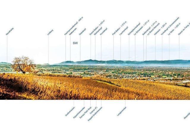 Die neue Panoramatafel reicht von der Mondhalde bis zum Großen Wintersberg