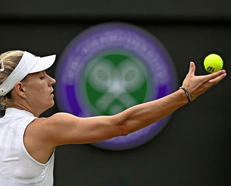 """Ich bin so glücklich, mein Tennis zu s...m Platz zu lassen"""", sagt Kerber.    Foto: GLYN KIRK (AFP)"""