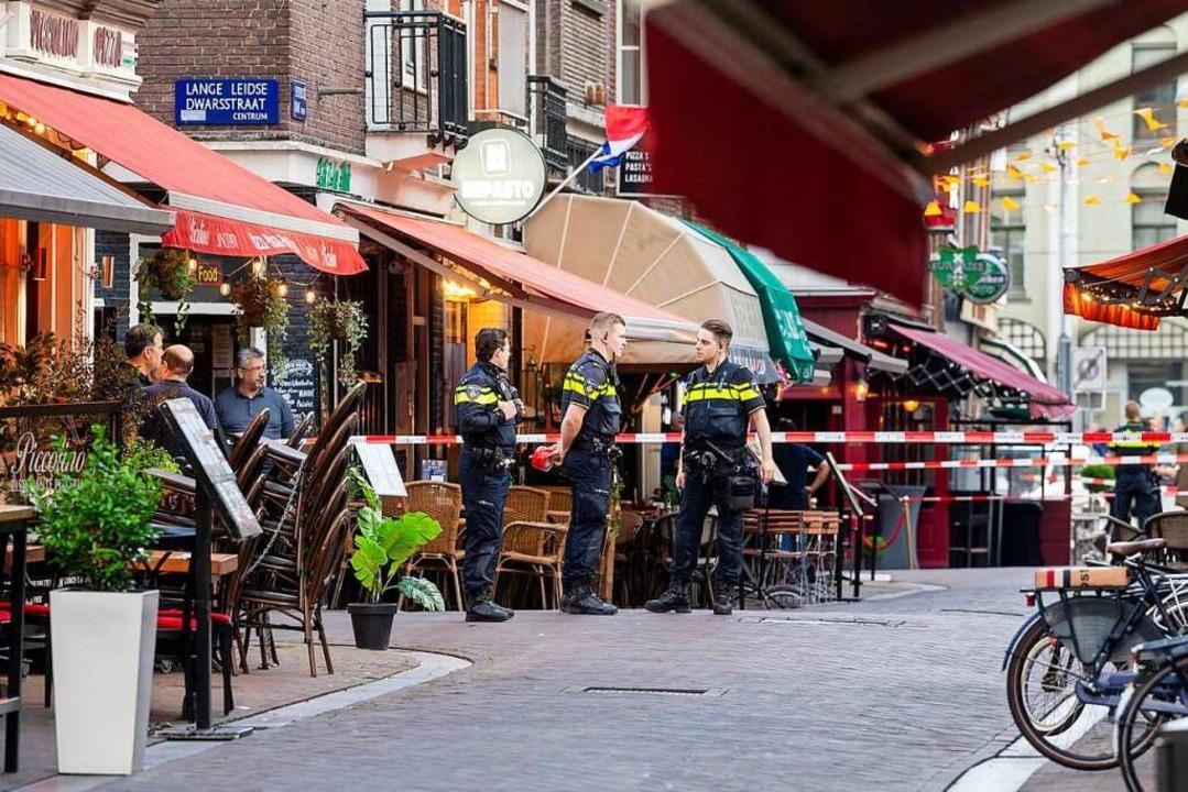 Der Tatort am Leidseplein in der Amsterdamer Innenstadt.  | Foto: Evert Elzinga (dpa)