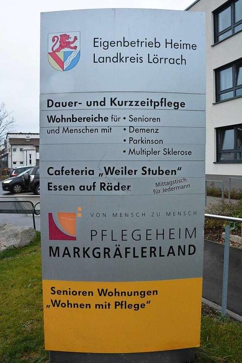 Das Pflegeheim Markgräflerland in Weil...f seinen Planansatz für 2020 deutlich.    Foto: Hannes Lauber
