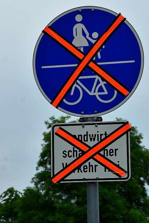 Der Radweg nördlich des Baugebietes is...Hochdruck-Gasleitungen verlegt werden.  | Foto: Heinz und Monika Vollmar