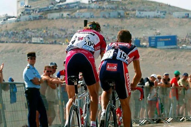 Mahlbergs Bürgermeister besucht die Tour de France in Malaucène