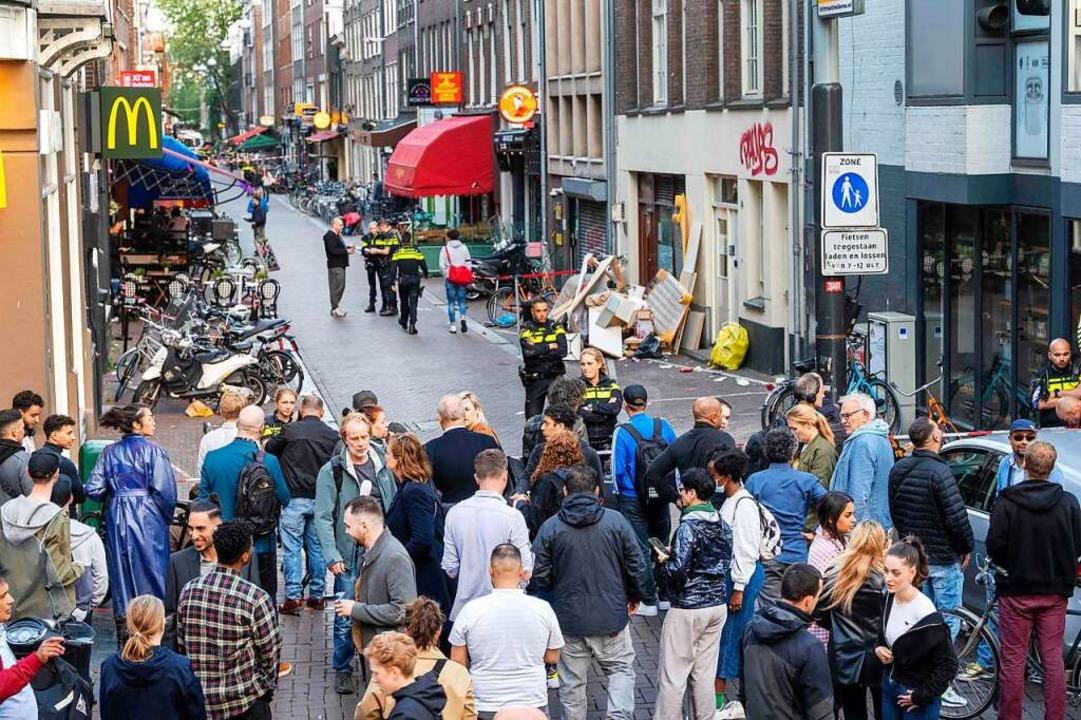 Der Tatort liegt im Zentrum von Amsterdam.  | Foto: EVERT ELZINGA (AFP)
