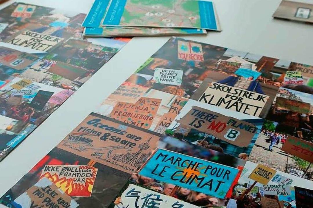 Ihre Flyer hatten die Initiativen  zur Veranstaltung mitgebracht.    Foto: Paula Meister