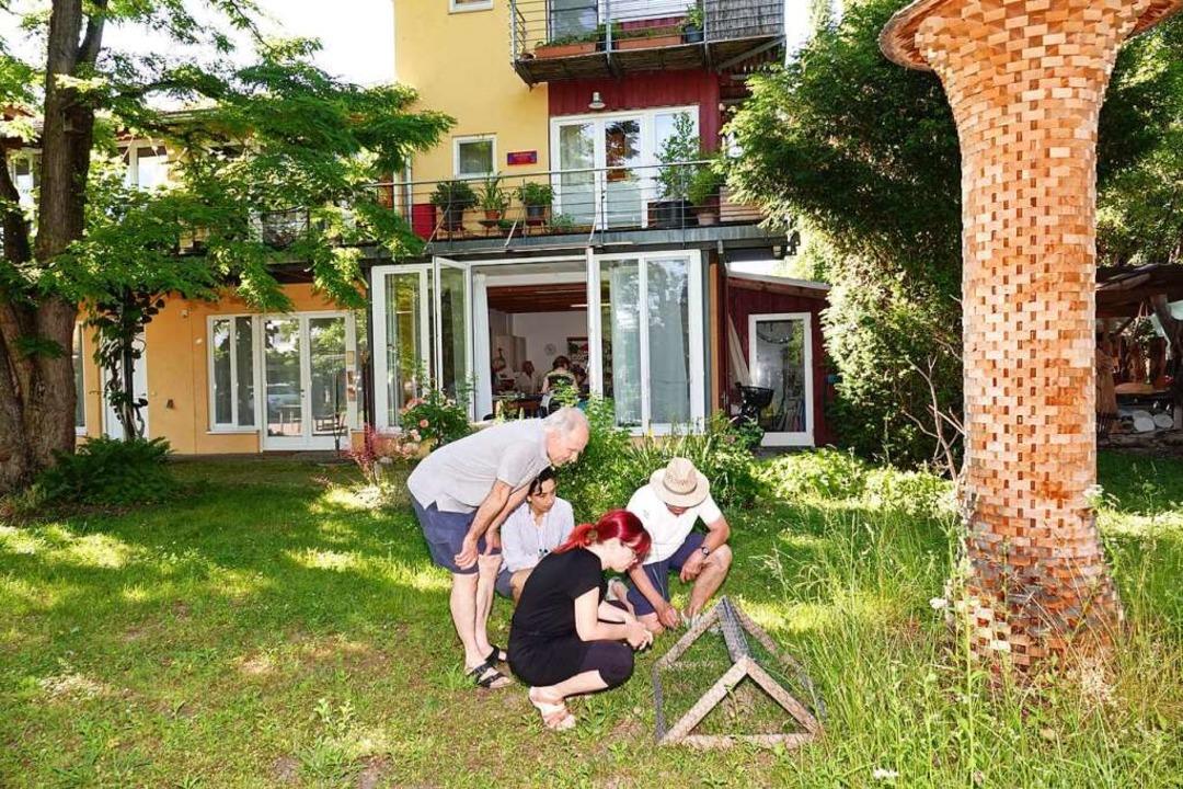 Die Waldameise wird im Hausgrün  gesch...hefin Sonja Lehmann und  Klaus Doller.    Foto: Dieter Erggelet