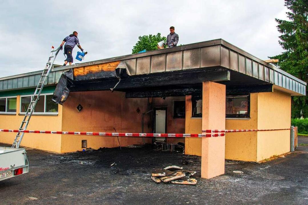 Das Gebäude in Kappel am Morgen nach dem Brand    Foto: Olaf Michel