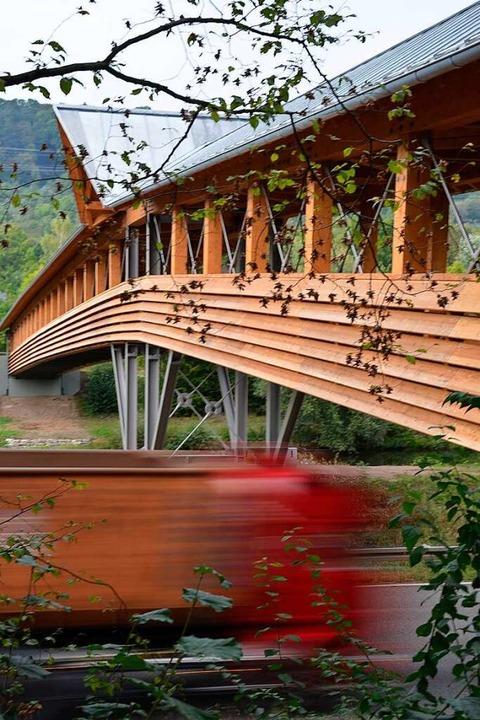 Die Holzbrücke im Grütt  | Foto: Sophia Hesser