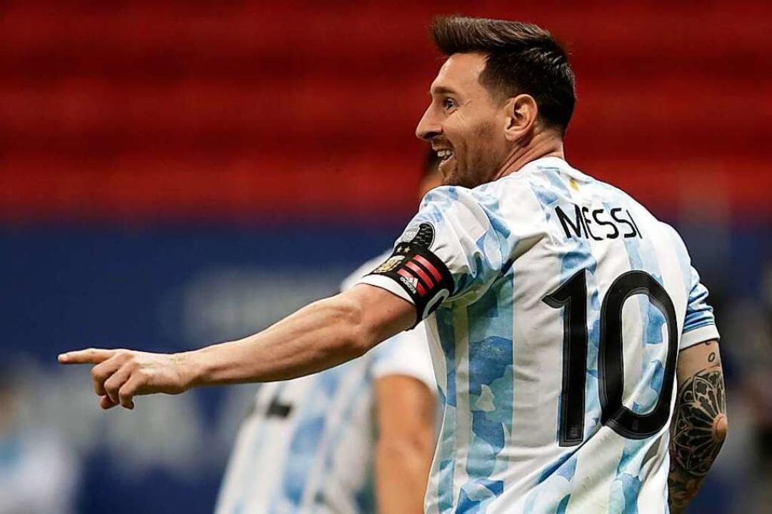 Kommt Messi nach Donaueschingen?    Foto: Eraldo Peres (dpa)