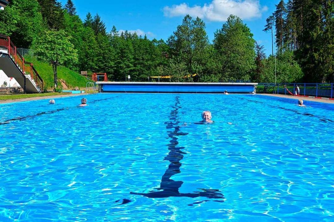 Das Schwimmbecken im Freibad Friedenweiler wird nachhaltig saniert.    Foto: Liane Schilling