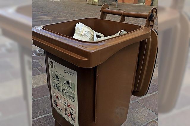 Der Landkreis schaut jetzt genau in die Mülltonnen
