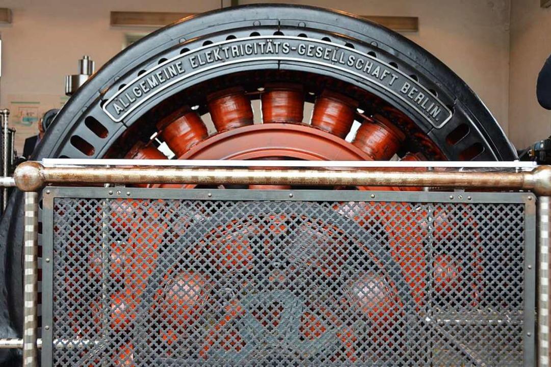 Alte Technik, die immer noch funktioniert: die Turbine am Standort Rheinhausen.  | Foto: Felix Lieschke