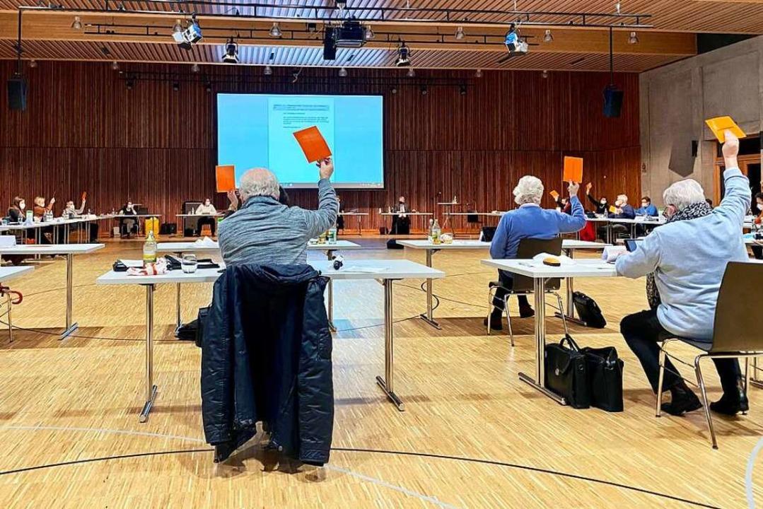 Der Gemeinderat Lahr bei einer Sitzung    Foto: Mark Alexander