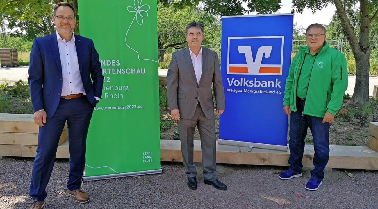 Partnerschaft besiegelt (von links): J...k) und Bürgermeister Joachim Schuster.  | Foto: LGS