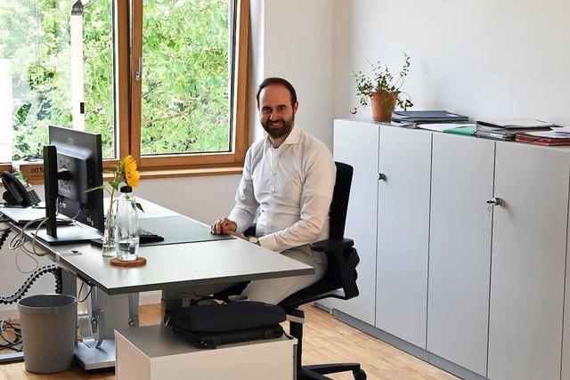 Das Schallstadter Verwaltungsteam ist ins neue Rathaus gezogen