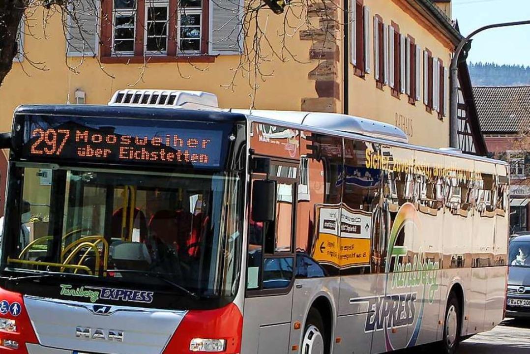 Der Busverkehr im Landkreis  soll neu ... in Eichstetten, ist dabei noch offen.  | Foto: Daniel Hengst