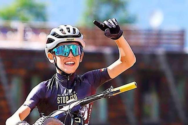 Der 12-jährige Jonas Schweizer aus Bollschweil wird im italienischen Pila Mountainbike-Europameister in der Altersklasse M 13