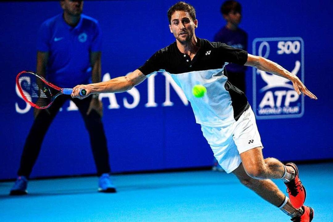 Die Nummer eins in Oberweier: Sandro Ehrat, Daviscup-Spieler aus der Schweiz  | Foto: David Emm