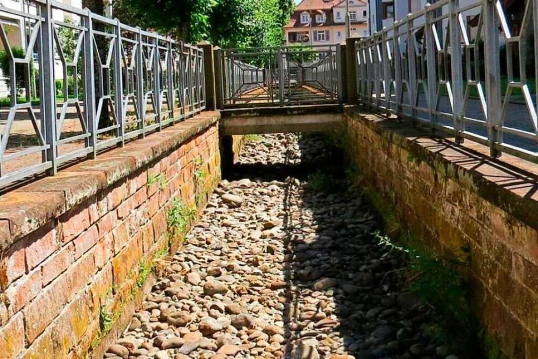 Ausgetrockneter Kanal: ein bekanntes Bild gerade in  den Sommermonaten.  | Foto: Stadt Schopfheim