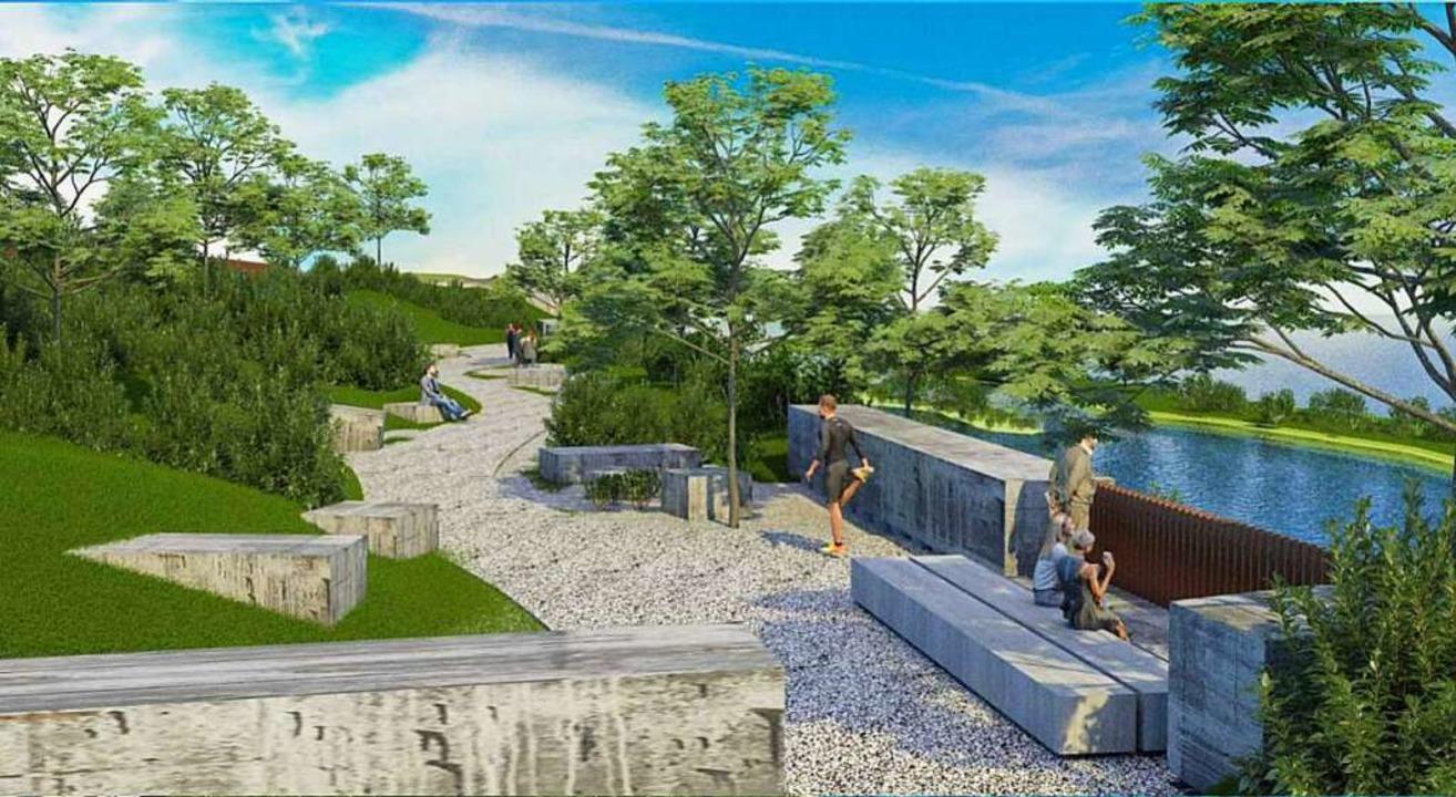 Eine Aussichtsplattform mit Blick über den Rhein ist geplant.  | Foto: Dora Schöls