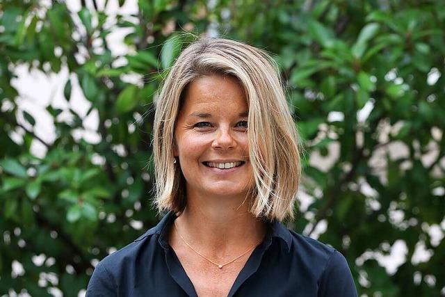 Rektorin Friederike Hengsteler gibt sich Mühe, wie ein Kind zu denken