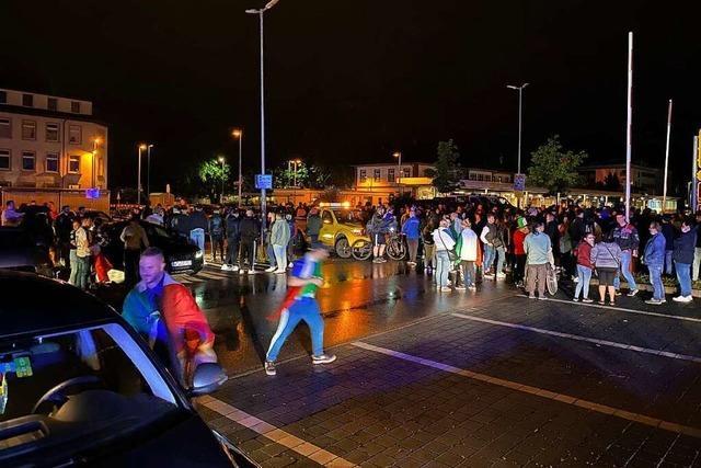 Italien-Fans feiern in Bad Säckingen laut, doch friedlich
