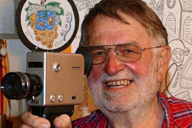 Der Weiler Herbert Stahl zeigt seinen historischen Film vom Lörracher Markt