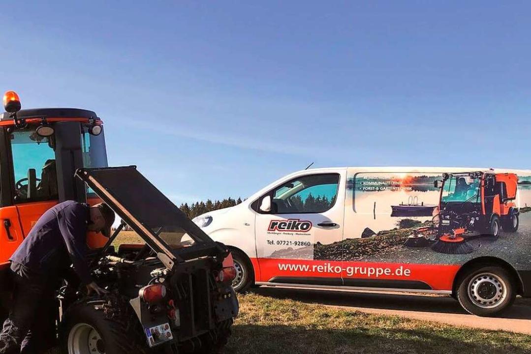 Einer der Vorteile der Reiko-Rund-um-d...st bei Notfällen schnell  beim Kunden.    Foto: Reiko