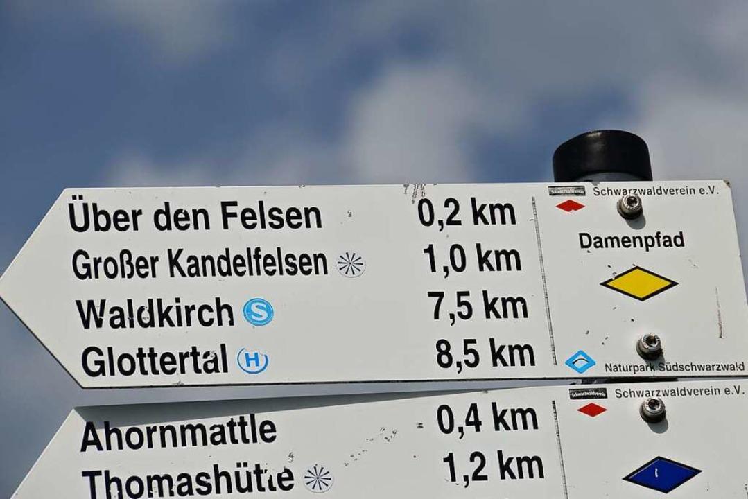 Fast geschafft: Von Waldkirch-Altersba...t's auf dem Damenpfad zum Kandel  | Foto: Anita Fertl