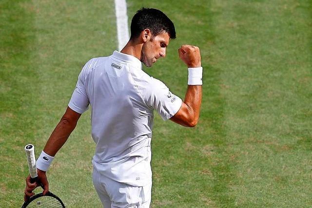 Novak Djokovic holt in Wimledon seinen 20. Grand Slam
