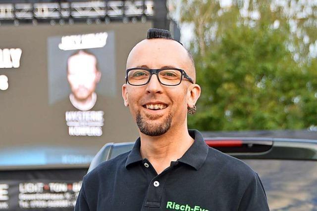 Veranstalter Oliver Risch will in Grenzach-Wyhlen im Freibad feiern